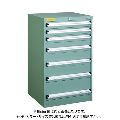 【運賃見積り】【直送品】 TRUSCO VE6S型キャビネット 600X550XH1000 引出7段 VE6S-1002