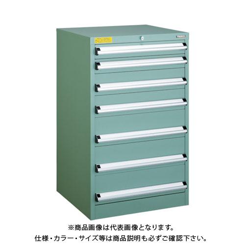 【運賃見積り】【直送品】 TRUSCO VE6S型キャビネット 600X550XH1000 引出7段 VE6S-1005