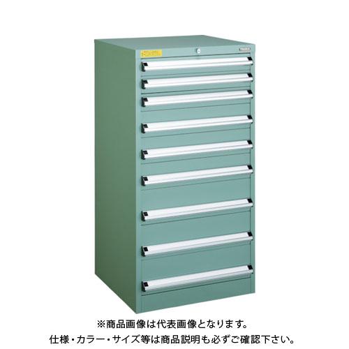 【運賃見積り】【直送品】 TRUSCO VE6S型キャビネット 600X550XH1200 引出9段 VE6S-1207
