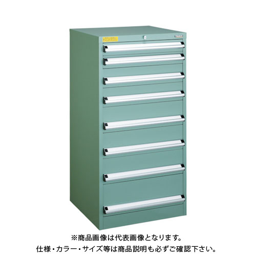 【運賃見積り】【直送品】 TRUSCO VE6S型キャビネット 600X550XH1200 引出8段 VE6S-1208