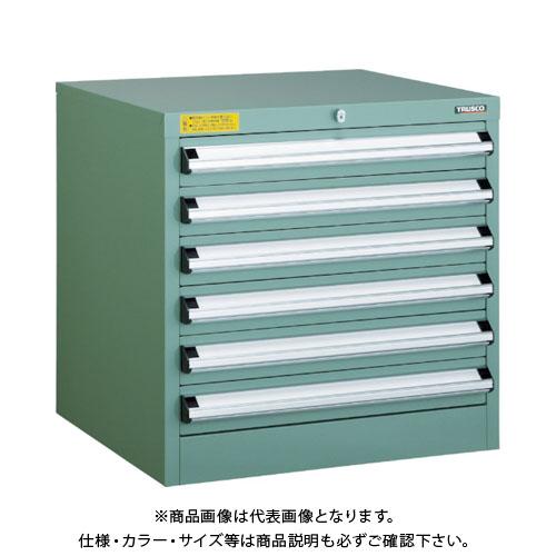【運賃見積り】【直送品】 TRUSCO VE6S型キャビネット 600X550XH600 引出6段 VE6S-604
