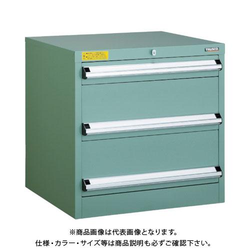 【運賃見積り】【直送品】 TRUSCO VE6S型キャビネット 600X550XH600 引出3段 VE6S-606
