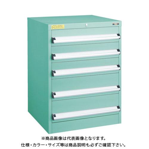【運賃見積り】【直送品】 TRUSCO VE6S型キャビネット 600X550XH800 引出5段 VE6S-801