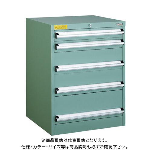 【運賃見積り】【直送品】 TRUSCO VE6S型キャビネット 600X550XH800 引出5段 VE6S-807