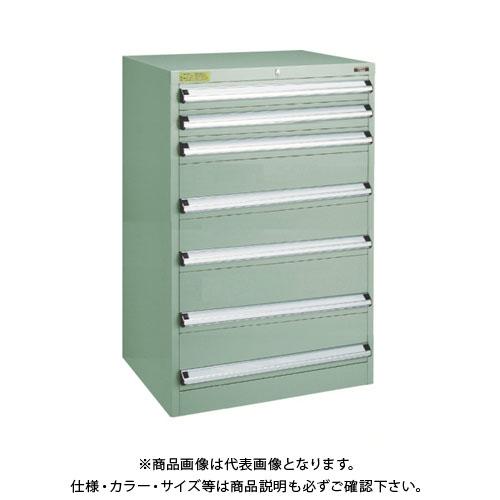 【運賃見積り】【直送品】 TRUSCO VE7S型キャビネット 700X550XH1000 引出7段 VE7S-1008