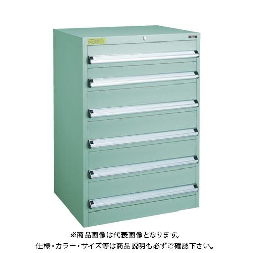 【運賃見積り】【直送品】 TRUSCO VE7S型キャビネット 700X550XH1000 引出6段 VE7S-1009
