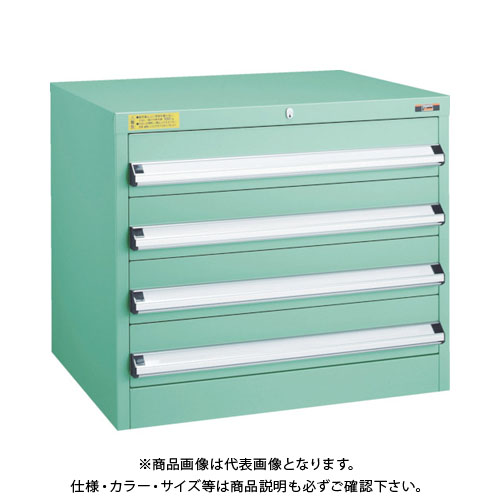 【運賃見積り】【直送品】 TRUSCO VE7S型キャビネット 700X550XH600 引出4段 VE7S-601