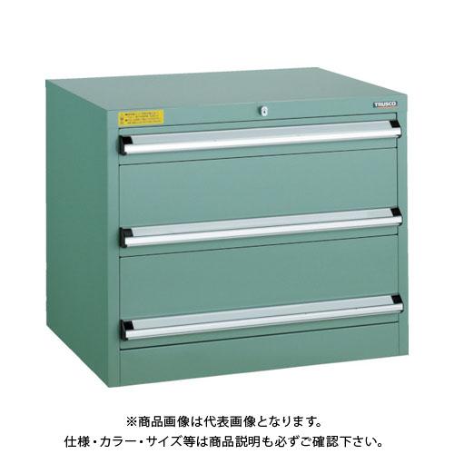 【運賃見積り】【直送品】 TRUSCO VE7S型キャビネット 700X550XH600 引出3段 VE7S-606
