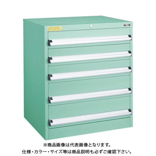 【運賃見積り】【直送品】 TRUSCO VE7S型キャビネット 700X550XH800 引出5段 VE7S-801