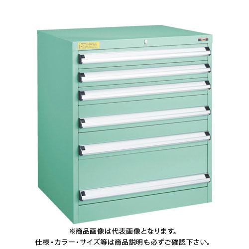 【運賃見積り】【直送品】 TRUSCO VE7S型キャビネット 700X550XH800 引出6段 VE7S-803