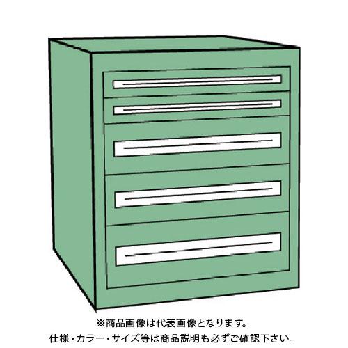 【運賃見積り】【直送品】 TRUSCO VE7S型キャビネット 700X550XH800 引出5段 VE7S-807
