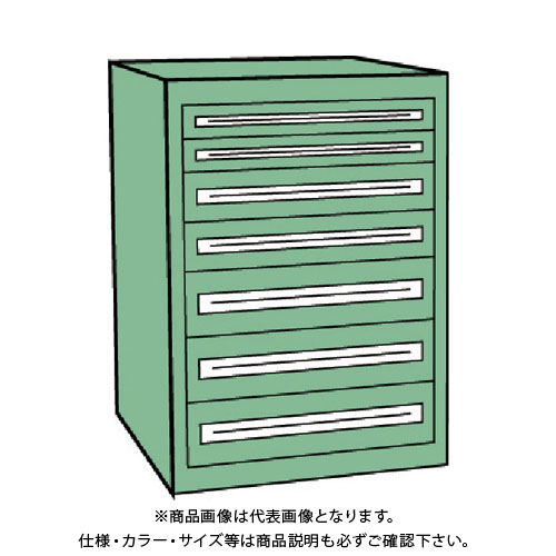 【運賃見積り】【直送品】 TRUSCO VE9S型キャビネット 880X550XH1000 引出7段 VE9S-1005