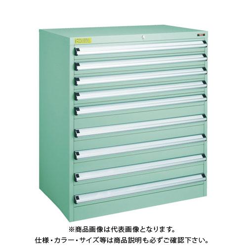 【運賃見積り】【直送品】 TRUSCO VE9S型キャビネット 880X550XH1000 引出9段 VE9S-1006