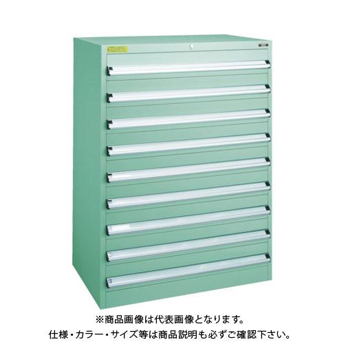 【運賃見積り】【直送品】 TRUSCO VE9S型キャビネット 880X550XH1200 引出9段 VE9S-1206