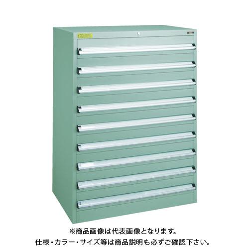 【運賃見積り】【直送品】 TRUSCO VE9S型キャビネット 880X550XH1200 引出8段 VE9S-1209