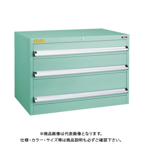 【直送品】 TRUSCO VE9S型キャビネット 880X550XH600 引出3段 VE9S-603