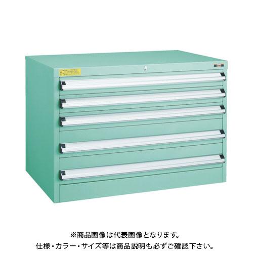 【運賃見積り】【直送品】 TRUSCO VE9S型キャビネット 880X550XH600 引出5段 VE9S-605