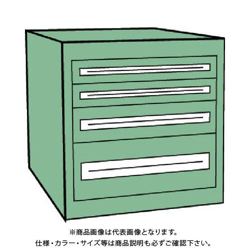 【運賃見積り】【直送品】 TRUSCO VE9S型キャビネット 880X550XH600 引出4段 VE9S-607