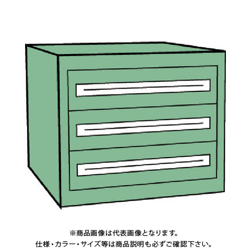 【運賃見積り】【直送品】 TRUSCO VE9S型キャビネット 880X550XH600 引出3段 VE9S-608