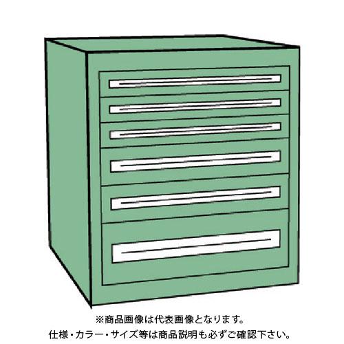 【運賃見積り】【直送品】 TRUSCO VE9S型キャビネット 880X550XH880 引出6段 VE9S-803