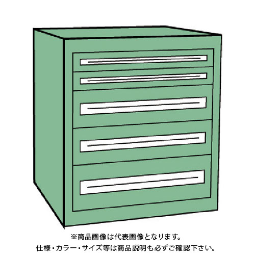 【運賃見積り】【直送品】 TRUSCO VE9S型キャビネット 880X550XH880 引出5段 VE9S-807