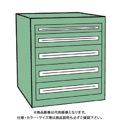 【運賃見積り】【直送品】 TRUSCO VE9S型キャビネット 880X550XH880 引出5段 VE9S-808