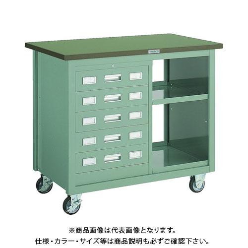 【運賃見積り】【直送品】 TRUSCO VD型引出付大型ツールワゴン 1000X600XH880 緑 VD-205:GN
