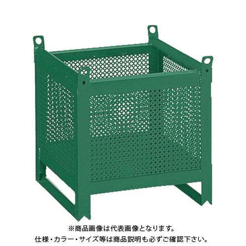 【直送品】TRUSCO ミニカーゴ パンチング型 450X450XH450 VJ-452