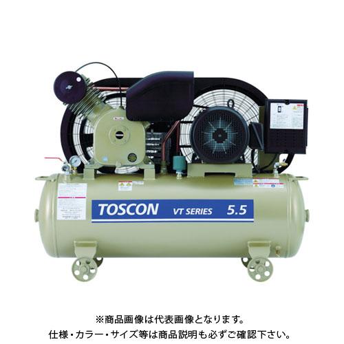 【直送品】東芝 タンクマウントシリーズ オイルフリー コンプレッサ(低圧) VLT10D-4T