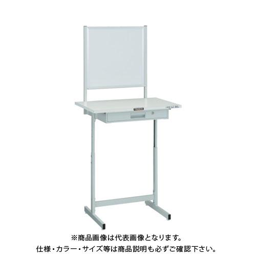 【運賃見積り】【直送品】 TRUSCO 小型作業デスク ホワイトボード付 700X450 W色 VU-701WW