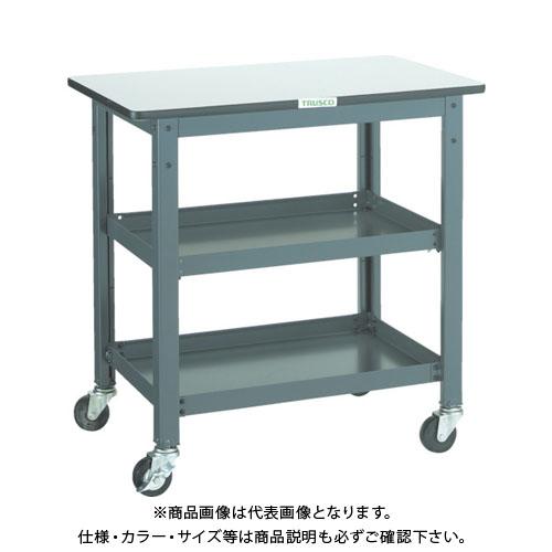 【直送品】 TRUSCO WHT型作業台補助テーブルワゴン 600X600XH740 WHT-6060
