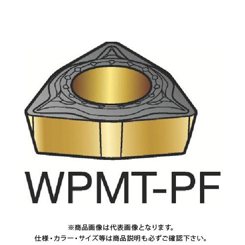 サンドビック コロターン111 旋削用ポジ・チップ 5015 10個 WPMT 02 01 02-PF:5015