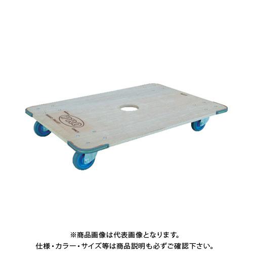 【直送品】ワコー マイハンドカー(ハンドル回転台車エアーキャスター付) WKH-9060-100