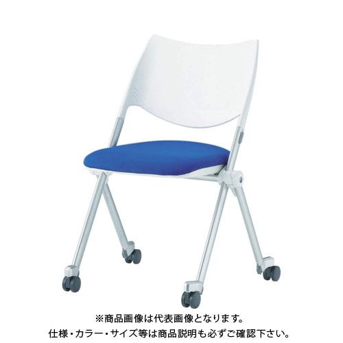 【運賃見積り】【直送品】 アイリスチトセ ミーティングチェア WSX-02C ブルー WSX-02C-F-BL