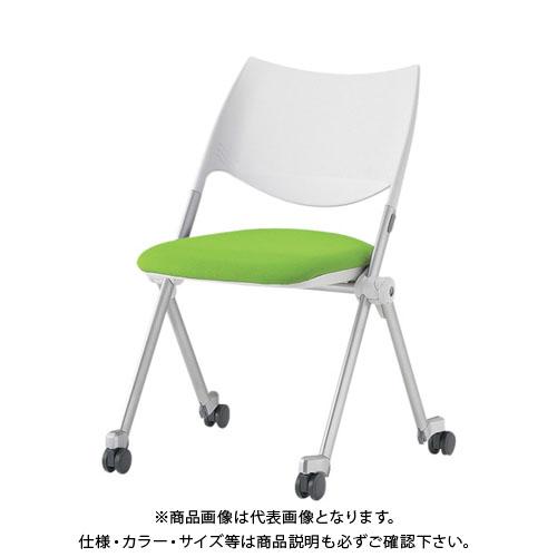 【運賃見積り】【直送品】 アイリスチトセ ミーティングチェア WSX-02C グリーン WSX-02C-F-GR