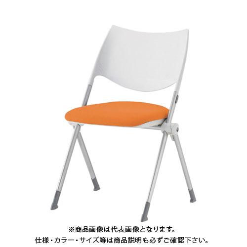 【運賃見積り】【直送品】 アイリスチトセ ミーティングチェア WSX-02C オレンジ WSX-02C-F-OG