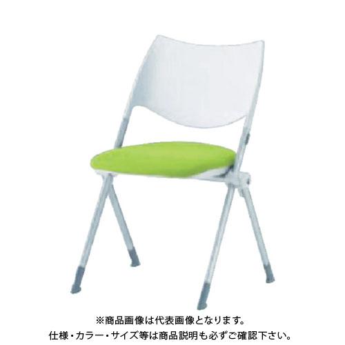 【運賃見積り】【直送品】 アイリスチトセ ミーティングチェア WSX-02 グリーン WSX-02-F-GR