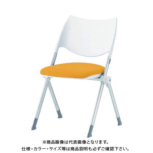 【運賃見積り】【直送品】 アイリスチトセ ミーティングチェア WSX-02 オレンジ WSX-02-F-OG
