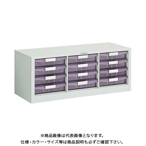 【運賃見積り】【直送品】 TRUSCO 横型バンラックケース 792X311XH314 引出X12 WUN-12AW