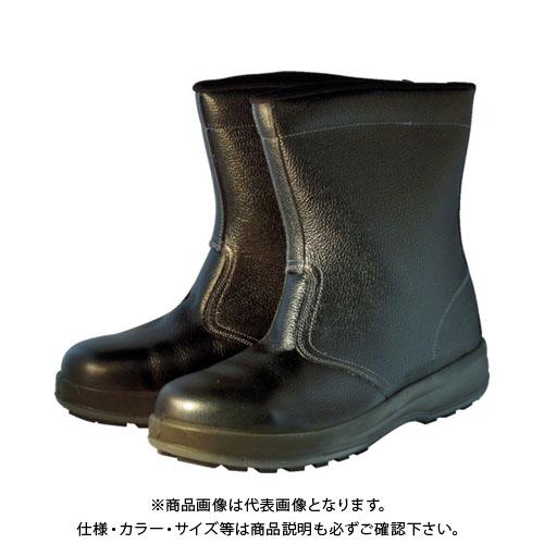 シモン 安全靴 半長靴 WS44黒 24.5cm WS44BK-24.5