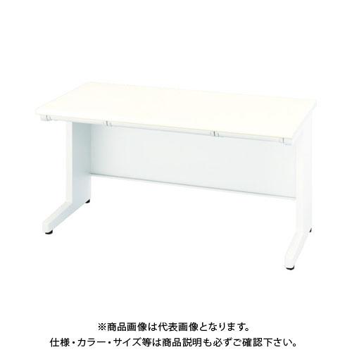 【運賃見積り】【直送品】 ナイキ 平デスク 間口1400×高さ700mm ホワイト XED147F-WH