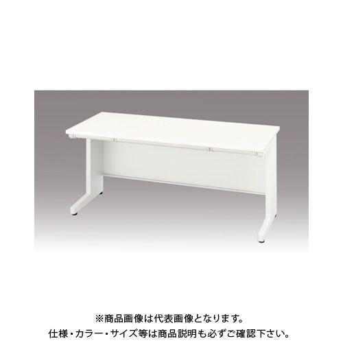 【運賃見積り】【直送品】 ナイキ 平デスク 間口1600×高さ700mm ホワイト XED167F-WH