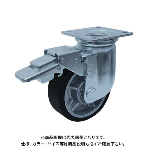 ヨドノ 重荷重用MCナイロン車付自在車ブレーキ付 YRRJMB200