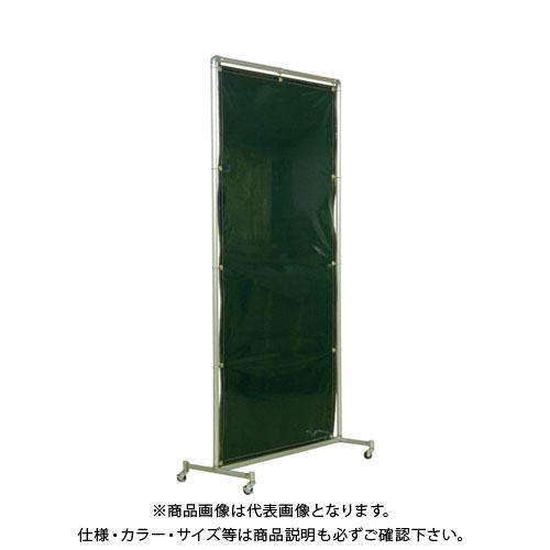 【運賃見積り】【直送品】吉野 遮光フェンスアルミパイプ 1×2 単体キャスター グリーン YS-12SC-G