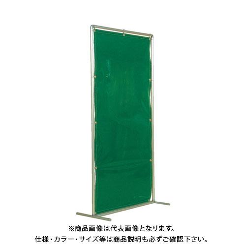 【運賃見積り】【直送品】吉野 遮光フェンスアルミパイプ 1×2 単体固定 グリーン YS-12SF-G