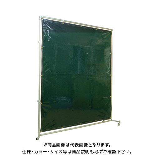 【運賃見積り】【直送品】 吉野 遮光フェンスアルミパイプ 2×2 接続キャスター グリーン YS-22JC-G
