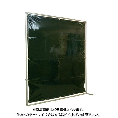 【運賃見積り】【直送品】吉野 遮光フェンスアルミパイプ 2×2 接続固定 ダークグリーン YS-22JF-DG