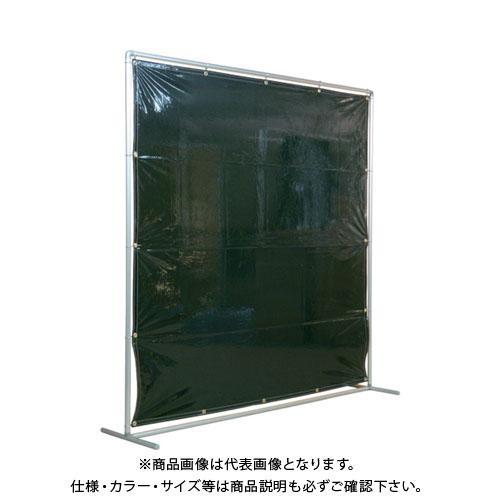 【運賃見積り】【直送品】吉野 遮光フェンスアルミパイプ 2×2 単体固定 ダークグリーン YS-22SF-DG