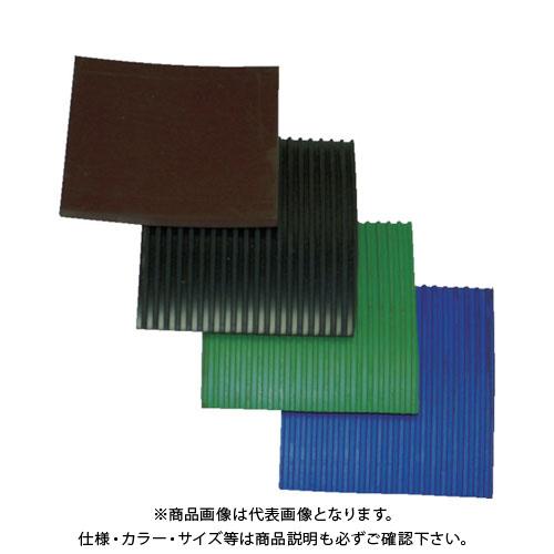 【個別送料1000円】【直送品】YOTSUGI 耐電ゴム板 青色 B山 10T×1M×1M YS-234-17-31