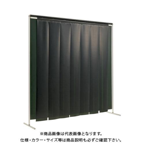 【運賃見積り】【直送品】吉野 クグレール 遮光用衝立のれん型2×2 キャスター無しダークグリーン YS-22SF-KG-DG